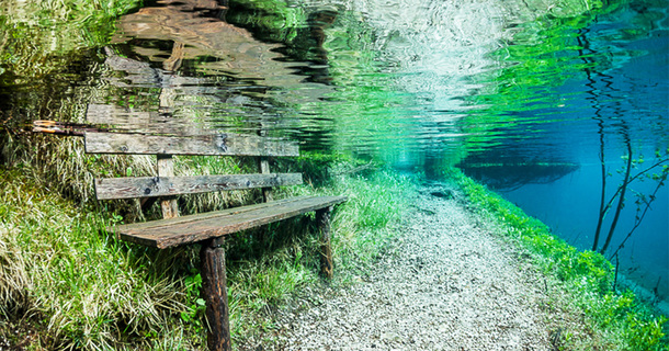 Every Spring This Park In Austria Disappears Under Water